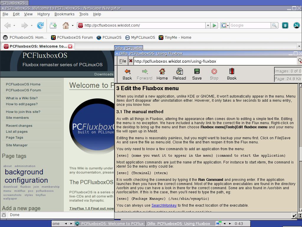 TinyFlux Screenshots - PCFluxboxOS